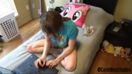 Step Brother Fucked His Gamer Sister Hot Girl