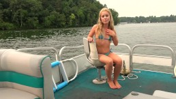 Giving My Blonde TEEN Step Sister a PUBLIC CREAMPIRE ON a BOAT